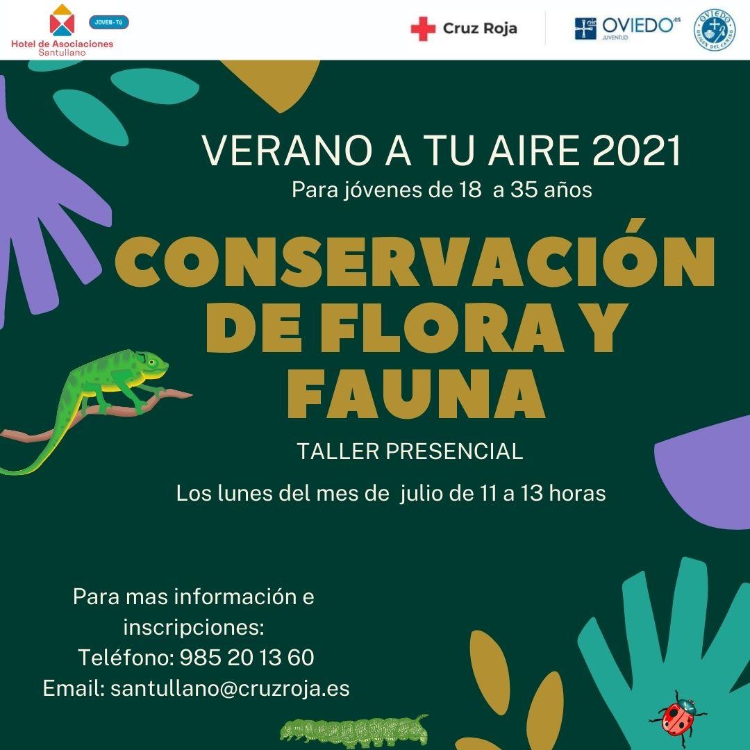 CARTEL TALLER CONSERVACION DE FLORA Y FAUNA