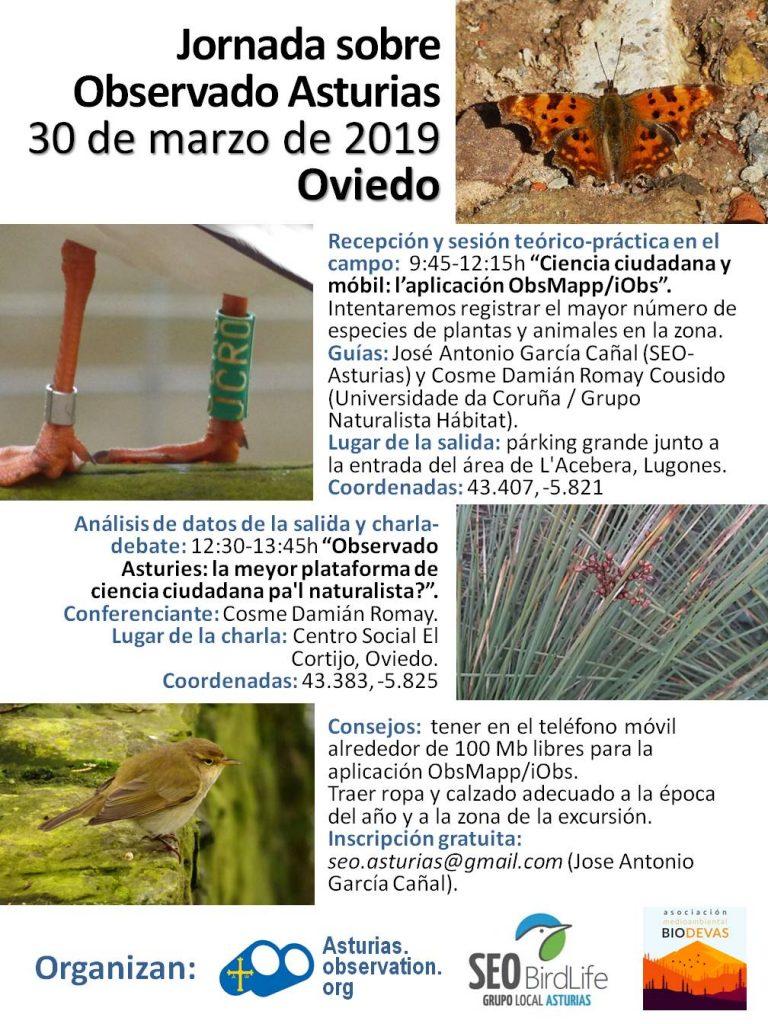 Cartel Jornada 30 3 2019 SEO Asturias Biodevas
