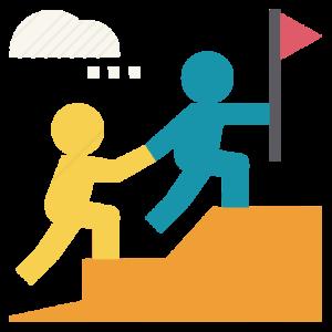 help leadership mentor team teamwork partner buddy 512 vectorized